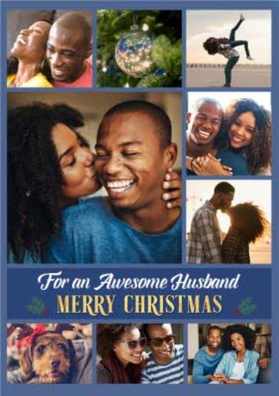 Awesome Husband Multiple Photo Upload Christmas Card