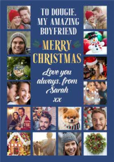 Multiple Photo Upload Christmas Card For Boyfriend