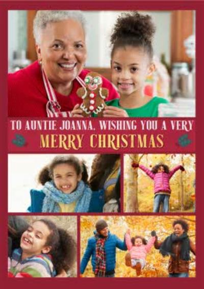 Multiple Photo Upload Christmas Card For Auntie