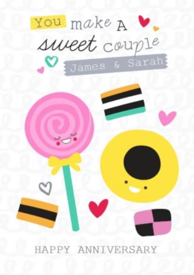 You Make A Sweet Couple Personalised Anniversary Card