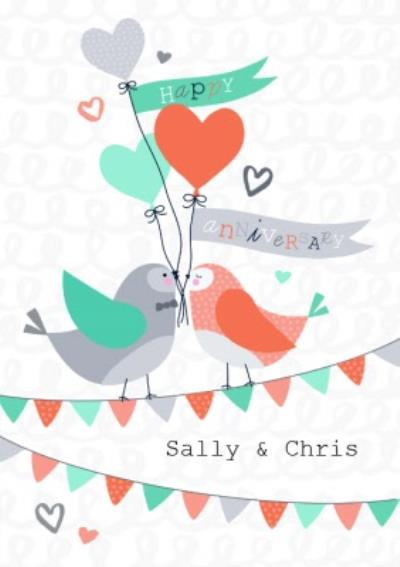 Bird Happy Anniversary Card