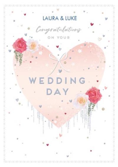 Watercolour Congratualtions on your Wedding Day Card