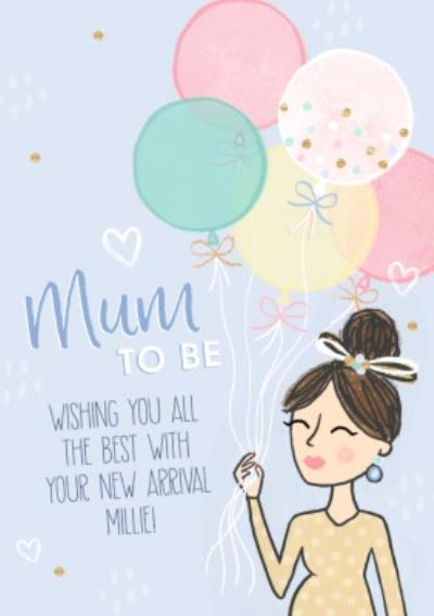 Raspberry Fizz Cute Illustrated Mum To Be Card