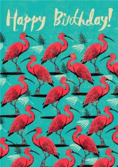 Flamingo Happy Birthday Card