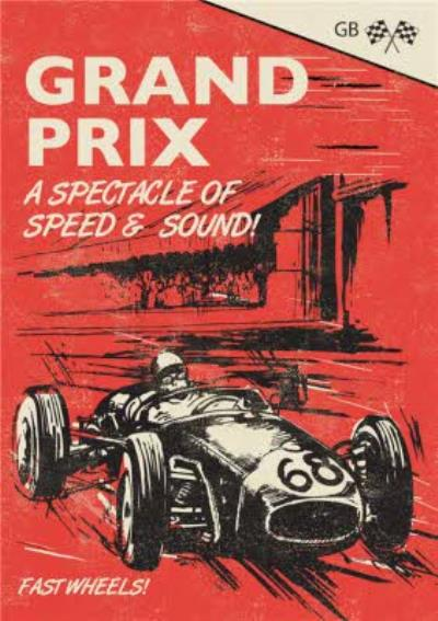 Grand Prix A Spectacle Of Speed And Sound Card