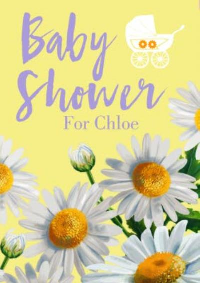 Blooming Sunflowers Illustration Personalised Baby Shower Card