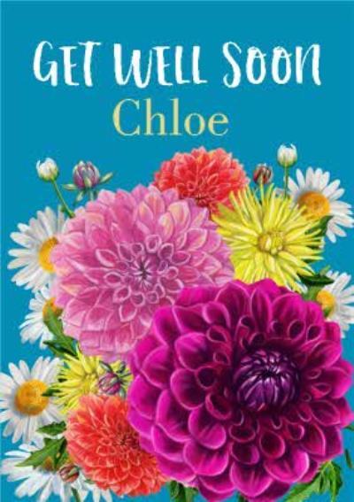Rocket 68 Floral Flowers Get Well Soon Card