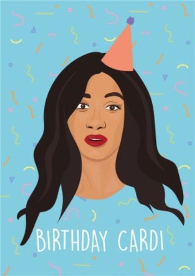 Modern Funny Singer Birthday Card