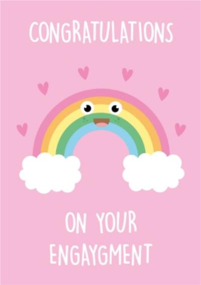 Congratulations on your Engaygment Rainbow Engagement Card