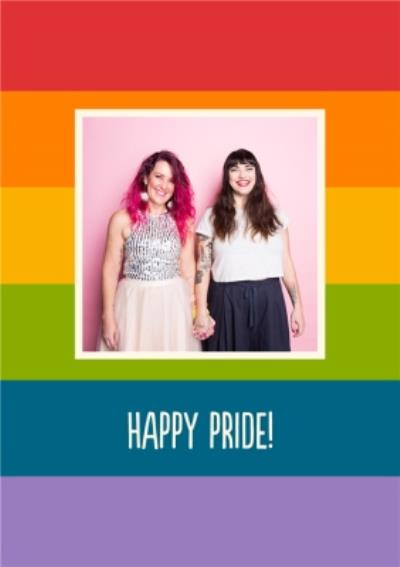 Rainbow Party Happy Pride Photo Upload Card