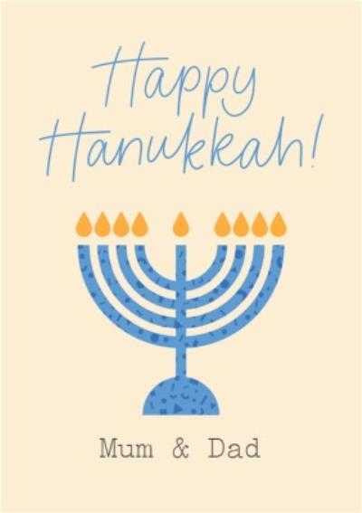 Modern Menorah Happy Hanukkah Card