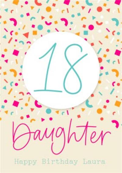 Scatterbrain Letters by Julia Daughter 18th Birthday Card