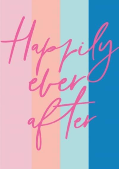 Happily Ever After Stripy Card