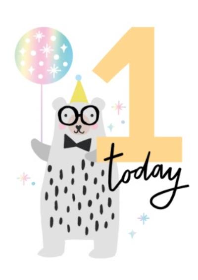 One Today Bear And Balloon Card