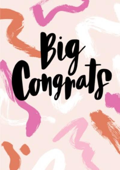 Abstract Big Congrats Card