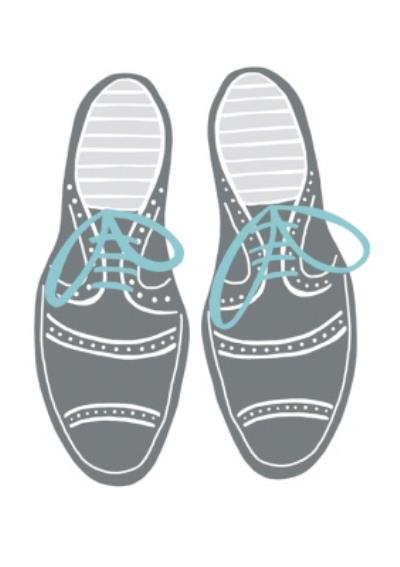 Grey and Blue Shoes Card