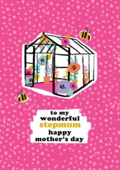 Bright Gardening Themed Wonderful Stepmum Mother's Day Card