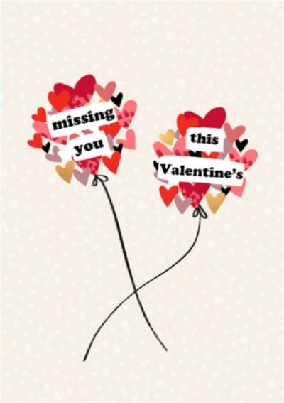 Missing You This Valentine's Day Card
