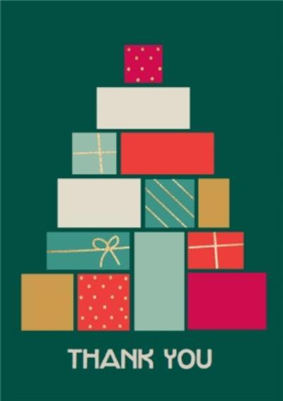 Shape Stack Geometric Present Christmas Presents Card