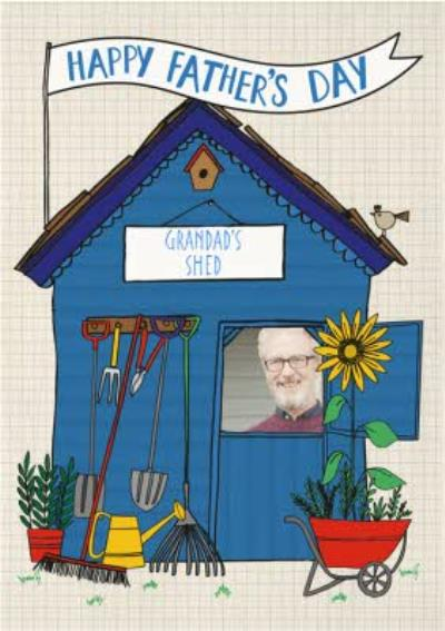 Garden Shed Happy Fathers Day Card