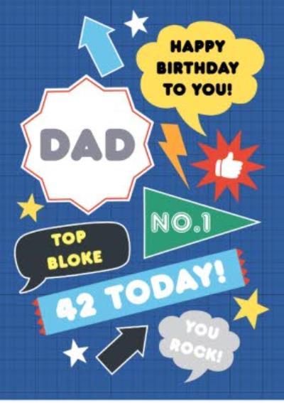 Personalised Top Bloke Happy Birthday Dad Card