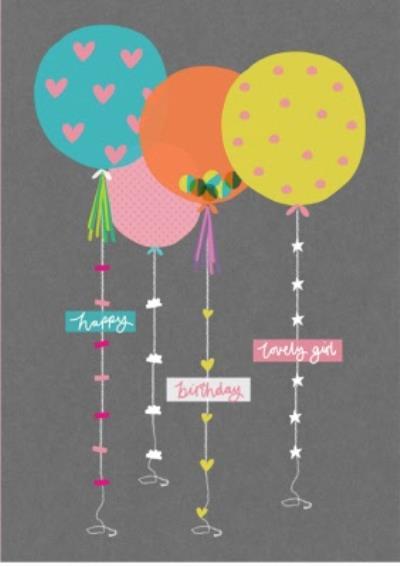 Shake It Up Birthday Balloons Personalised Card