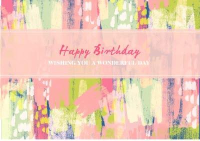 Ladies Birthday card - pattern