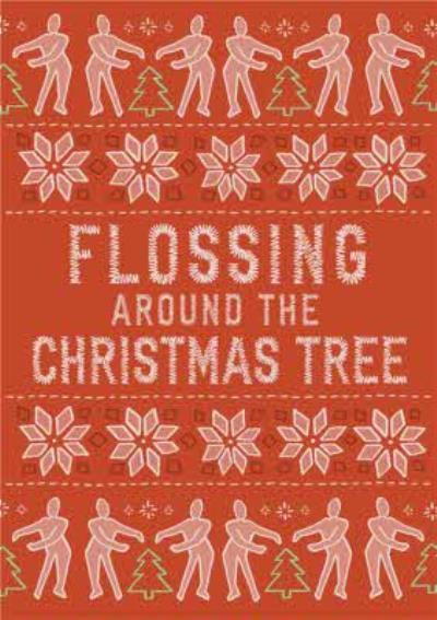 Christmas Card Flossing around the Christmas tree