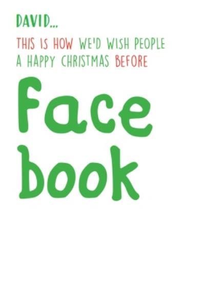 Funny Christmas Card - facebook