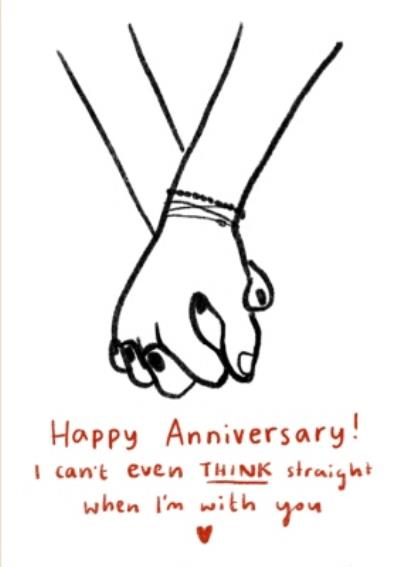 I Can't Think Straight Lesbian Anniversary Card