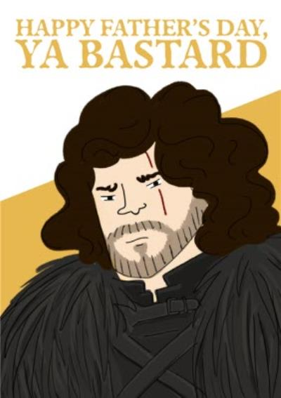 Game of Thrones Father's Day Card - Jon Snow - GOT - Game Of Thrones