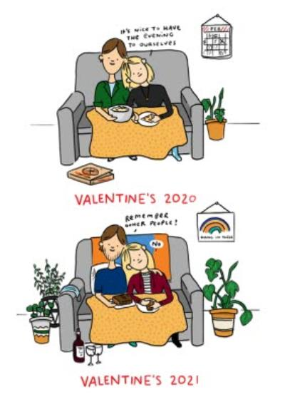 Valentine's 2020 2021 Remember Other People Couple Card