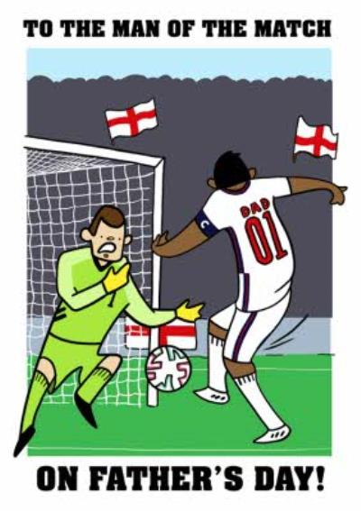 England Footballer Man Of The Match Father's Day Card