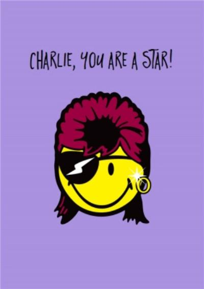 Smiley World You Are A Star David Bowie Birthday Card Moonpig