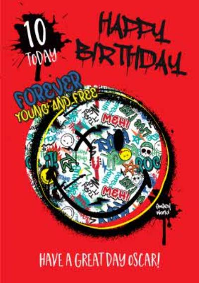 Smiley World Happy Birthday Card Forever Young and Free