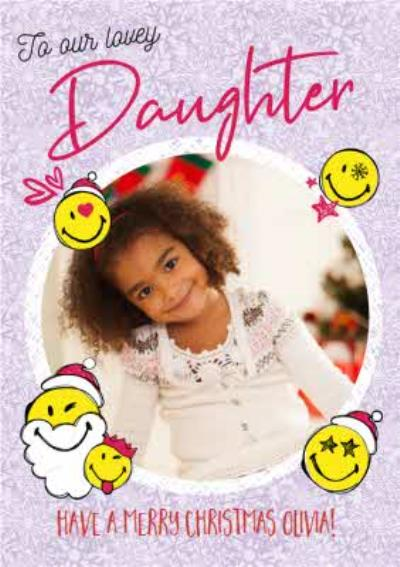 Smiley World To Our Lovely Daughter Photo Upload Christmas Card