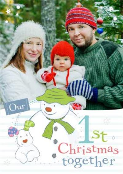 The Snowman Our 1st Christmas Together Personalised Merry Christmas Card