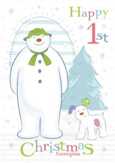 The Snowman Happy First Christmas Card