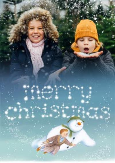 The Snowman Flying Photo Upload Christmas Card