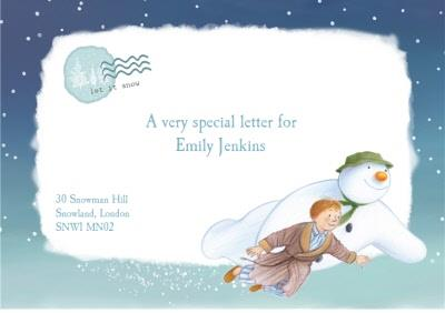 Personalised Letter From The Snowman Christmas Card