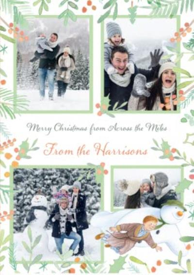 The Snowman Across The Miles Photo Upload Christmas Card