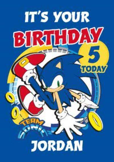 Sega Sonic Kids It's Your Birthday Team Sonic Card