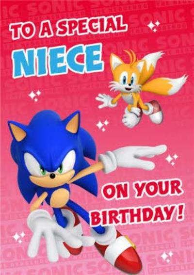 Sega Sonic Kids To A Special Niece On Your Birthday Card
