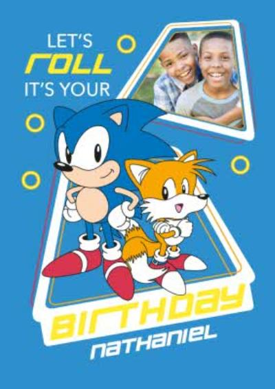 Sega Sonic Lets Roll Its Your Birthday Photo Upload Card