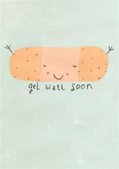 Cute Illustration Get Well Soon Card