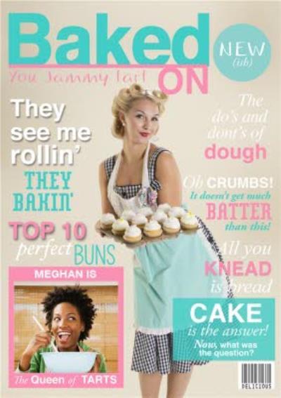 Baked on Magazine Photo Upload Card