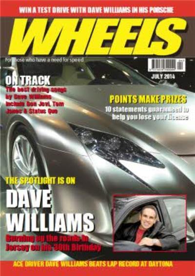 Wheels Magazine Personalised Photo Card