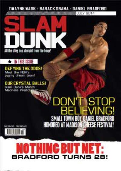 Slam Dunk Basketball Magazine Spoof Personalised Photo Upload Birthday Card