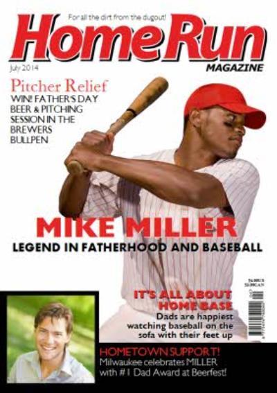 Home Run Magazine Spoof Baseball Magazine Personalised Photo Upload Happy Birthday Card