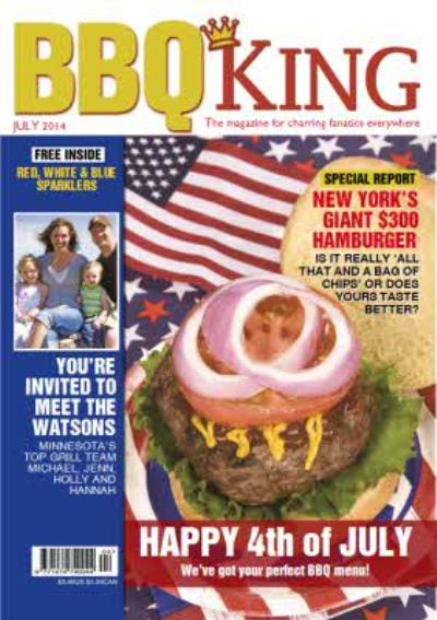 Bbq King Spoof Magazine Personalised Photo Upload Happy Birthday Card
